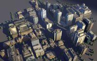 做建筑场景常用的楼房,房屋3D模型