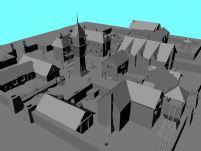 小区,城镇maya模型