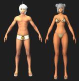 游戏中的男女角色,maya模型