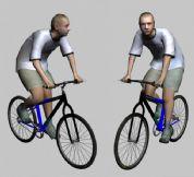 骑自行车的男孩3D模型