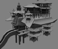 古代酒楼,古建,古代建筑,maya模型