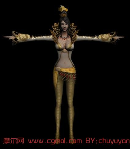 三国无双6甄姬模型,次时代角色,动画角色,3D模