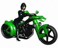 骑着超酷蛇头摩托的女人,max模型