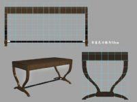 复古书桌模型
