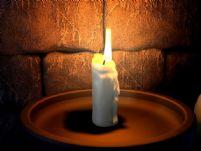 燃烧的蜡烛(带火苗跳动动画)3D模型