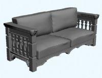 古典沙发3D模型