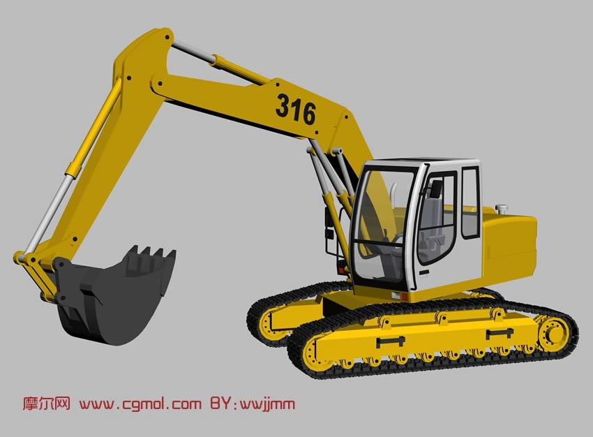 玩具汽车挖土机