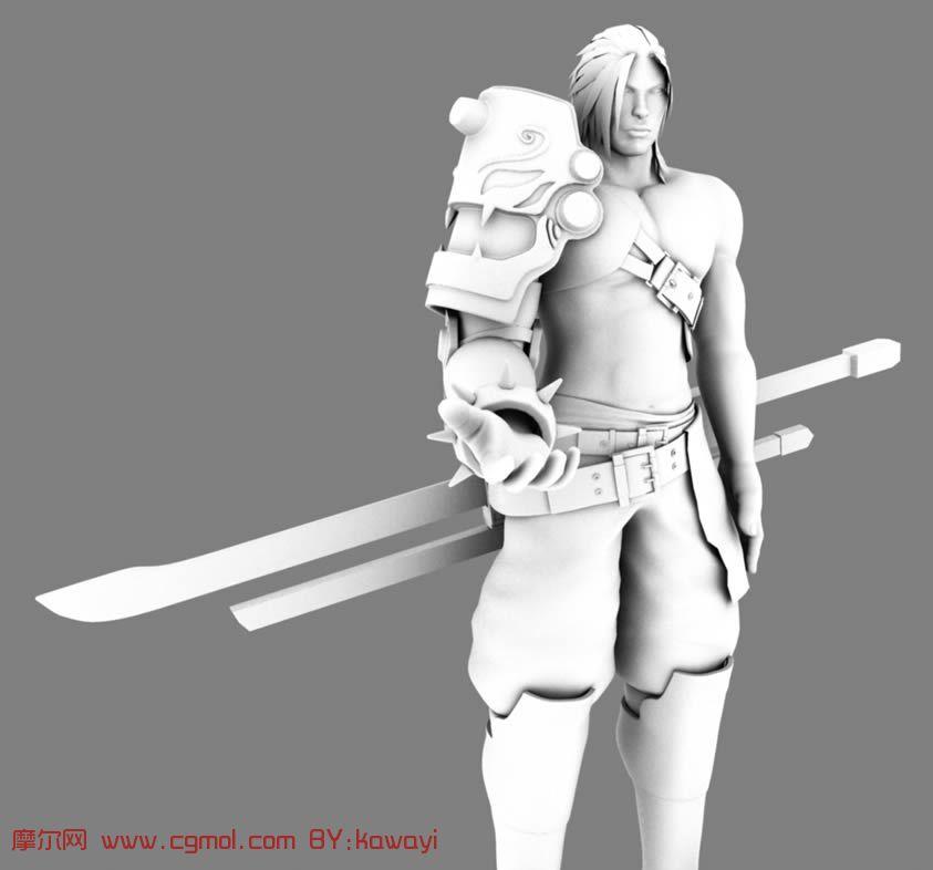 帅气的武士,刀客,剑客,maya模型