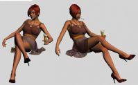 时尚红发女郎,max模型