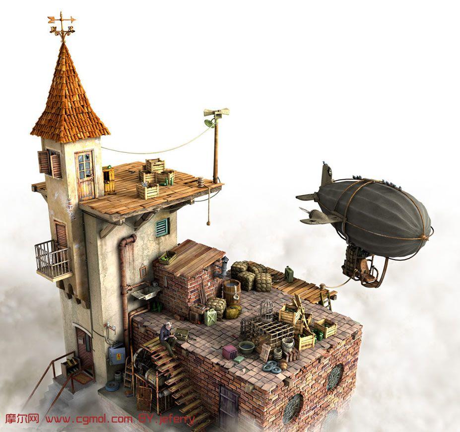 做得非常好的maya房子3d模型 其他建筑 建筑模型高清图片