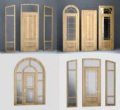 四款木门设计3D模型