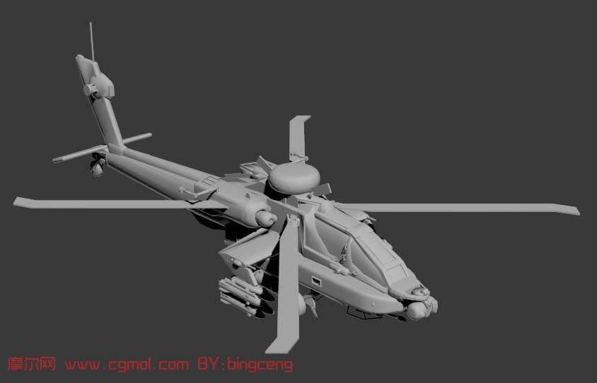 阿帕奇战斗直升机3d模型
