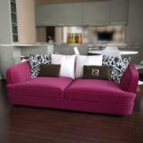 时尚玫红色多人沙发3D模型