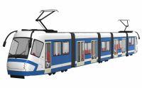 蓝皮火车,动车3D模型