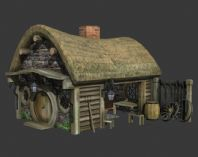 游戏低模,铁匠铺3D模型