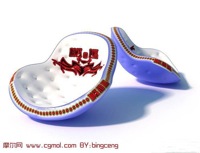 充气水上玩具,水上冲气沙发3D模型