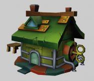 maya卡通房子模型
