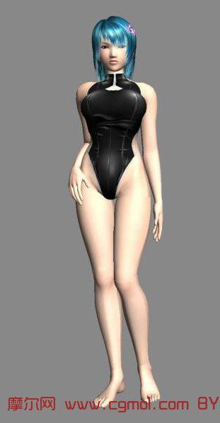 泳装美女,沙滩美女3D模型