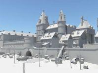 城堡建筑场景3D模型