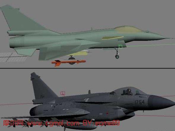 j-10战斗机,飞机3d模型