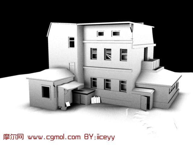房子 的 maya模型 ,现代 场景高清图片