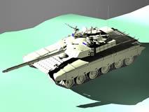 中国99式坦克3D模型