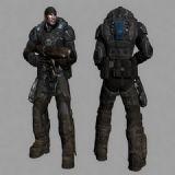 次时代游戏《战争机器》中的超级战士3D模型
