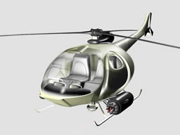 携带重武器的轰炸直升飞机3D模型