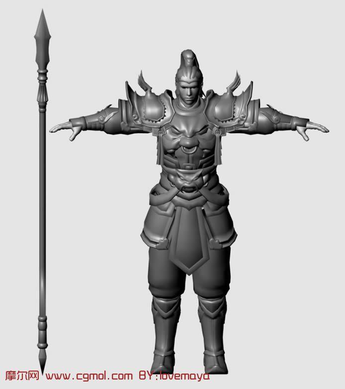 古代战士,武士的maya模型