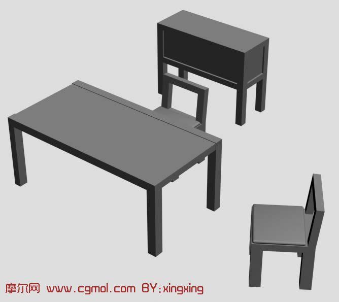 桌子,椅子3D模型