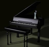 典雅钢琴3D模型