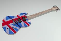 吉他,乐器3D模型