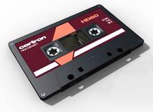录音带,磁带,卡带3D模型