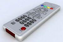 电视机红外线遥控器3D模型