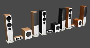 高低音响3D模型
