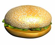 汉堡3d模型