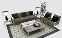 简易客厅,大厅装饰3D模型
