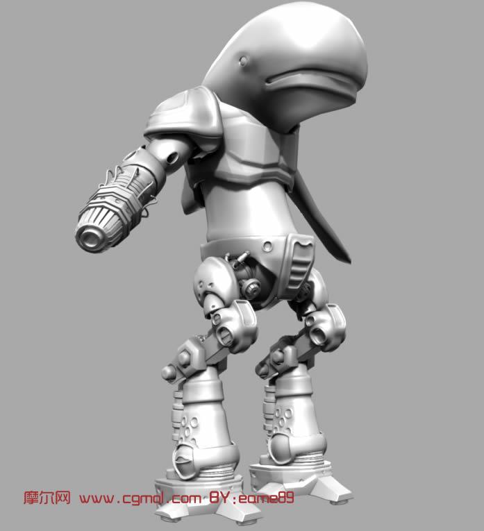 海豚机器人 海豚战士 maya模型高清图片