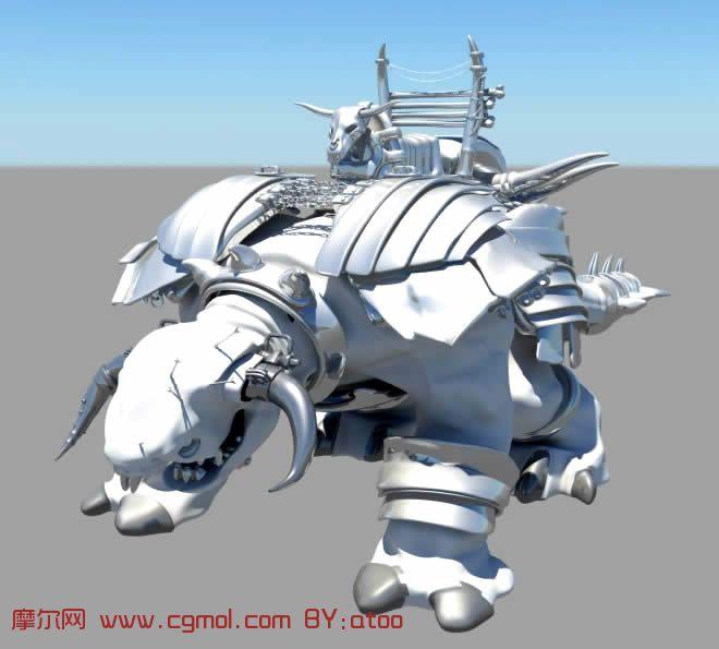 牛头怪坐骑,牛头兽坐骑,maya模型