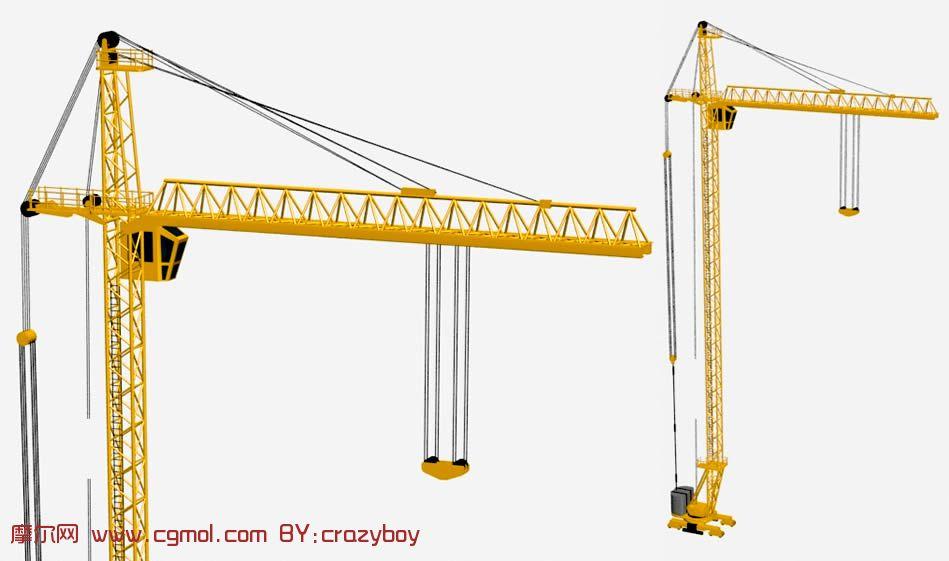 塔吊,建筑起吊机3d模型