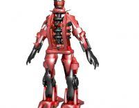 红色机器人3D模型