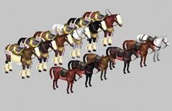 十二款战马,马匹,3D游戏角色模型