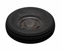 生锈的车胎,轮胎3D模型(有材质贴图)