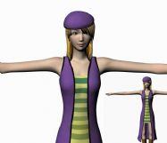 高挑MM,美女的maya模型