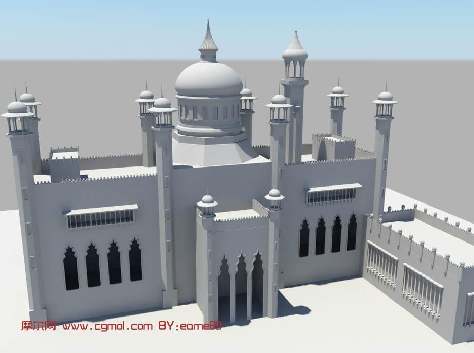 建筑模型 古典建筑模型 maya建筑模型下载 玛雅屋cg论坛 高清图片