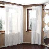 白色窗帘3D模型