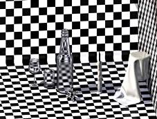 酒具,酒瓶,酒杯,蜡烛,maya模型