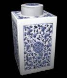 青花瓷茶叶罐,茶具3D模型