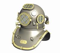 美国海军潜水头盔3D模型