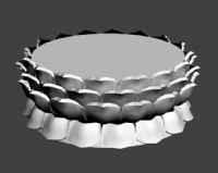 观音莲花台,莲花座3D模型三